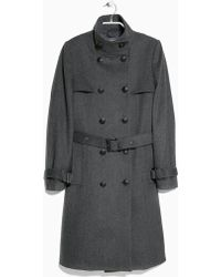 Mango Double-breasted Wool-blend Coat - Lyst