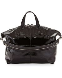 Givenchy Nightingale Medium Patent Satchel Bag - Lyst