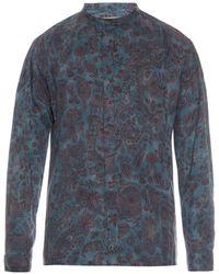 Yohji Yamamoto Printed Batik Cotton Shirt - Lyst
