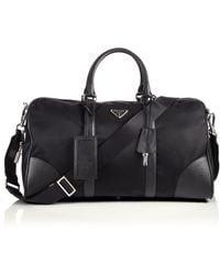 Prada Nylon & Saffiano Leather Duffel Bag - Lyst