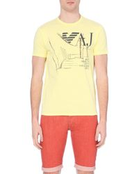 Armani Jeans Graphic-Print T-Shirt - For Men - Lyst