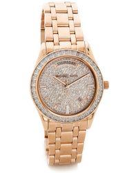 Michael Kors Kiley Watch - Rose Gold - Lyst