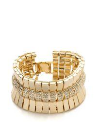 Lee Angel Crystal Pave Bar Bracelet