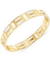 Swarovski Cubist Gold-Plated Crystal Bangle Bracelet - Lyst