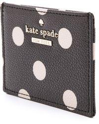Kate Spade Cedar Street Card Holder - Black/Deco Beige - Lyst
