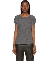 Etoile Isabel Marant Grey Slub Laura T_Shirt - Lyst