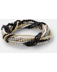 Violeta by Mango - Contrast Bead Bracelet - Lyst