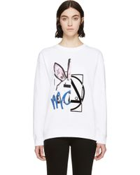 McQ by Alexander McQueen White Angry Bunny Sweatshirt - Lyst