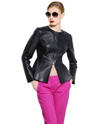 Sportmax Nappa Leather Jacket - Lyst