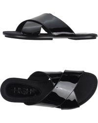 High Sandals black - Lyst