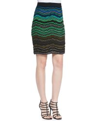 M Missoni Ripple Knit Skirt - Lyst