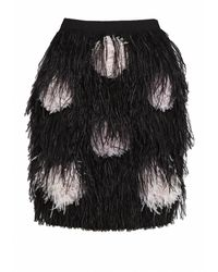 Matthew Williamson Feather Pom Pom Embroidered Skirt - Lyst