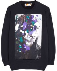 MSGM Oversized Sweatshirt with Face - Lyst