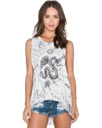 Obey Winged Serpent Tank - Lyst