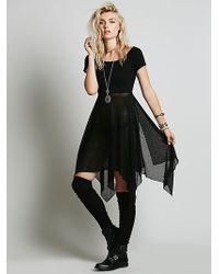Free People Black Jete Dress - Lyst