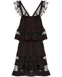 Pixie Market Endless Nights Organza Dress - Lyst