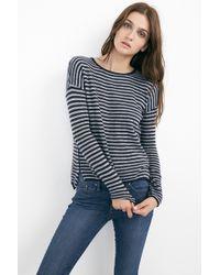 Velvet By Graham & Spencer Tirion Stripe Sheer Cashmere Sweater - Lyst