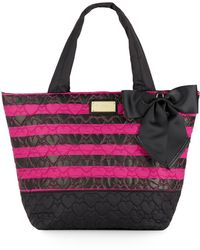 Betsey Johnson - Tie The Knot Striped Tote - Lyst