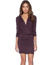 Krisa Long Sleeve Ruched Dress - Lyst