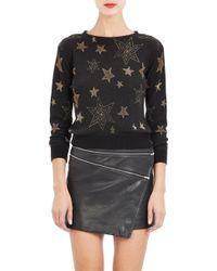 Saint Laurent Metallic Star Sweater - Lyst