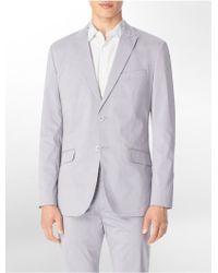 Calvin Klein Classic Fit Textured Check Blazer - Lyst