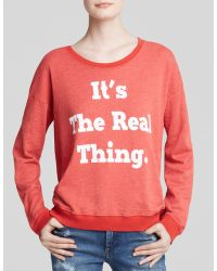 Wildfox Sweatshirt - It'S The Real Thing - Lyst