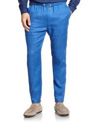 F. Faconnable Linen Pants - Lyst