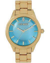 Steve Madden - Womens Goldtone Bracelet Watch 40mm 12 - Lyst