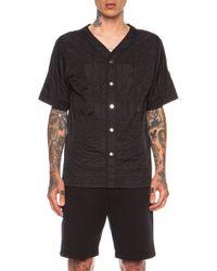 Alexander Wang Quilted Nylon Baseball Shirt - Lyst