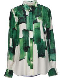 Celine Green Shirt - Lyst