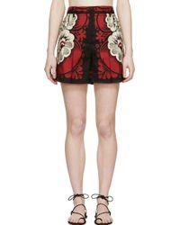 Valentino Black Printed Silk Shorts - Lyst