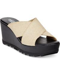 Callisto Mardi Platform Wedge Sandals - Lyst