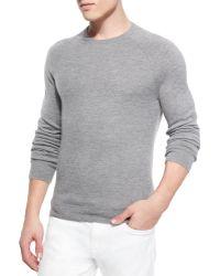 Vince Cashmere Raglan Crewneck Sweater - Lyst