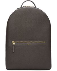 Thom Browne - Grey Pebbled Leather Backpack - Lyst