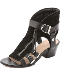 IRO Xinty Suede City Sandals - Black - Lyst
