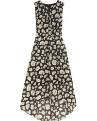 Alice + Olivia Floral-print Cotton and Silk-blend Dress - Lyst