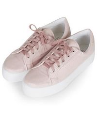 Topshop Camden Flatform Trainers pink - Lyst