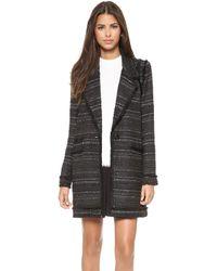 Rachel Zoe Aria Long Fringe Coat  Black - Lyst