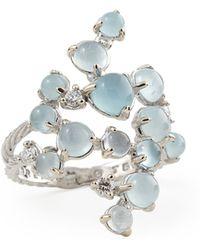 Paul Morelli - Aquamarine & White Diamond Bubble Cluster Ring - Lyst