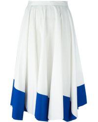 Vionnet Colour Block Flared Skirt - Lyst