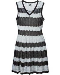 M Missoni Zig Zag Knit Flared Dress - Lyst