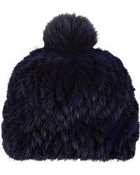 Barneys New York | Mink & Fox Fur Knit Beanie | Lyst