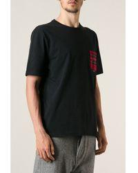 Ami Alexandre Mattiussi Black Check Pocket T-shirt - Lyst