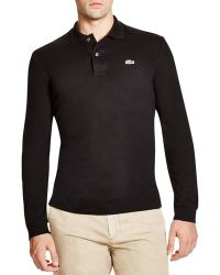 Lacoste | Croc Stretch Long Sleeve Slim Fit Polo | Lyst