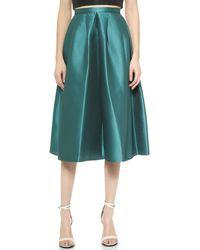 Tibi Simona Jacquard Skirt - Emerald - Lyst