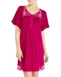 La Perla Fuchsia Lace Trim Nightgown red - Lyst