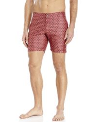 Fendi Printed Swim Trunks - Lyst