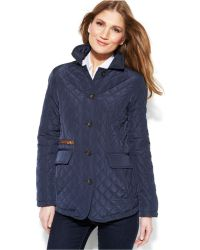 Jones New York Petite Quilted Packable Jacket With Travel Bag - Lyst