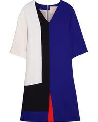 Roksanda Ilincic Color-block Wool-crepe Dress - Lyst