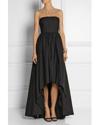 Notte By Marchesa Embellished Tulle and Faille Gown - Lyst